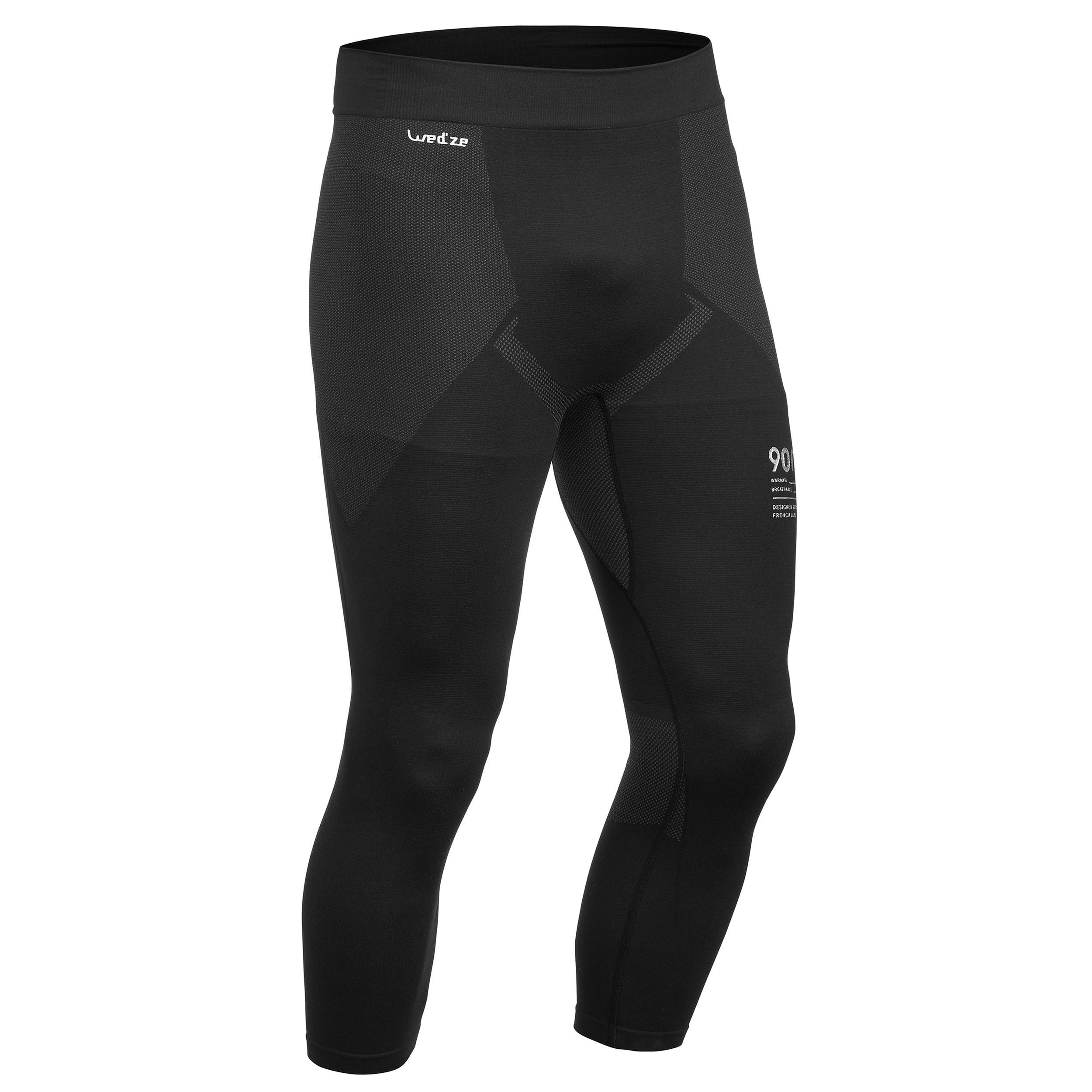 900 Men's Ski Base-Layer Bottoms - Black/Grey