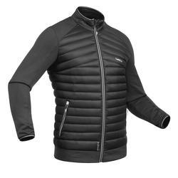 男款雙板滑雪中層衣900 - 黑色