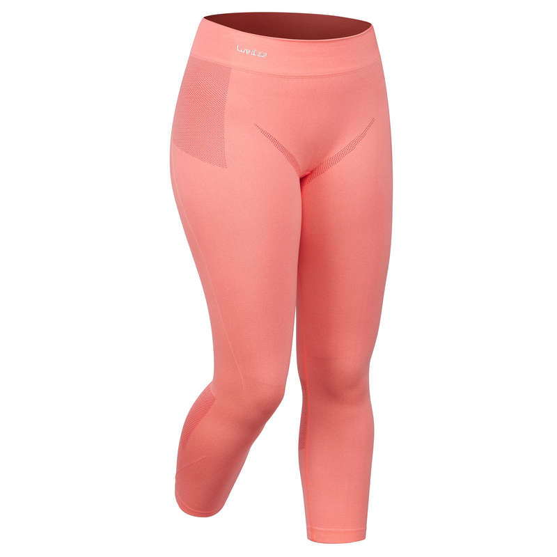 WOMEN SKI BASELAYER & PULL Skiing - 900 W Base Layer Bottom - Pink WEDZE - Ski Wear