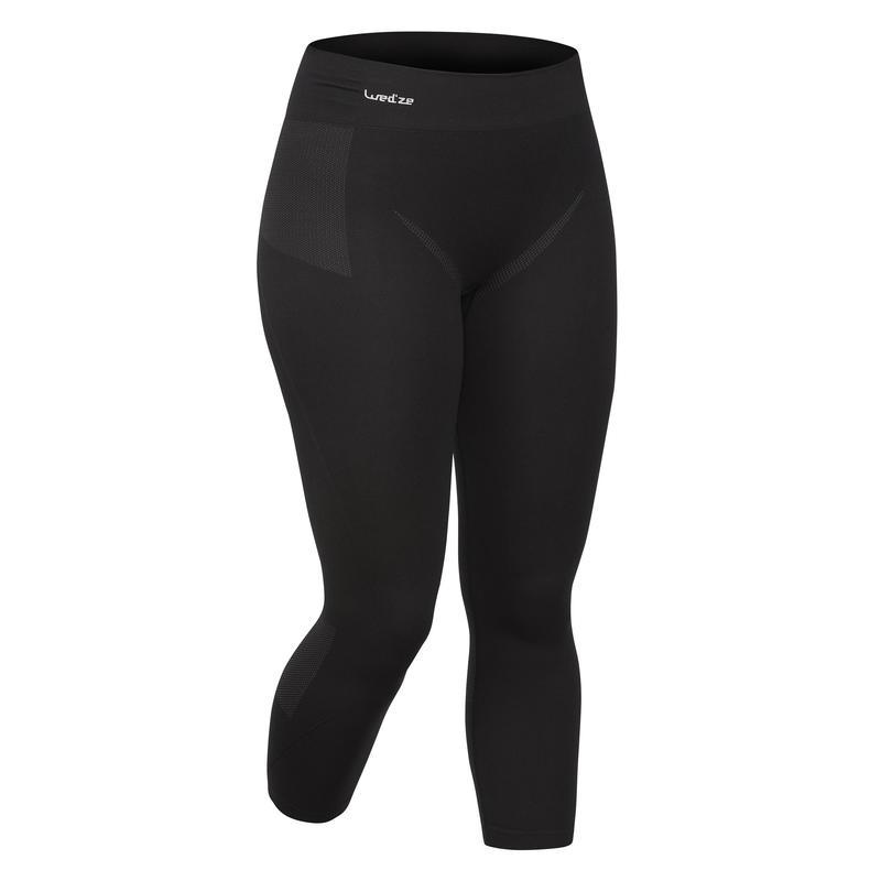 Women's Skiing Base-Layer Bottoms 900 - Black
