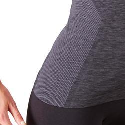 Laufshirt Kiprun Skincare Damen schwarz/grau