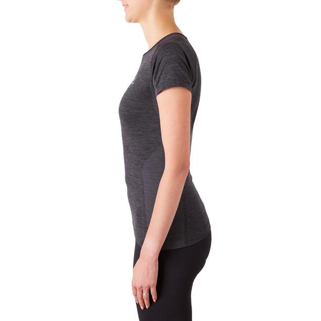 SKINCARE KIPRUN BREATHABLE WOMEN'S RUNNING T-SHIRT - BLACK