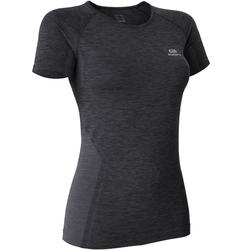 SKINCARE KIPRUN BREATHABLE WOMEN'S RUNNING T-SHIRT - BLACK
