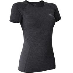 SKINCARE KIPRUN WOMEN'S RUNNING T-SHIRT - BLACK