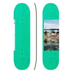 """Tabla de skate DECK 120 talla 7,75"""" color verde."""