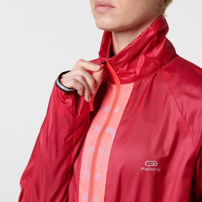 Winddicht hardloopjack voor dames Kiprun Wind Kalenji roze