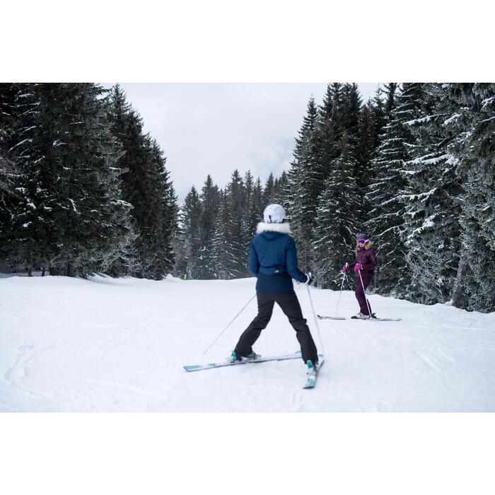 Dames ski-jas voor pisteskiën SKI-P JKT 150 marineblauw