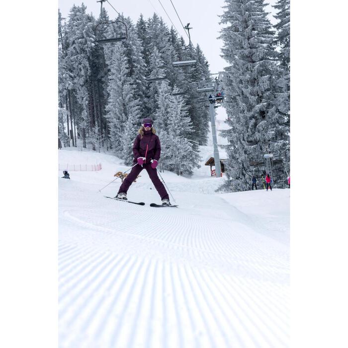 Dames ski-jas voor pisteskiën SKI-P JKT 150 paars