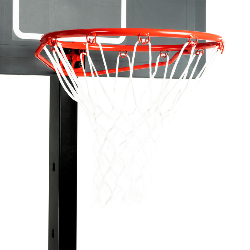 B400 Easy Kids'/Adult Basketball Basket - Black/RedTool-free 2.4m - 3.05m.