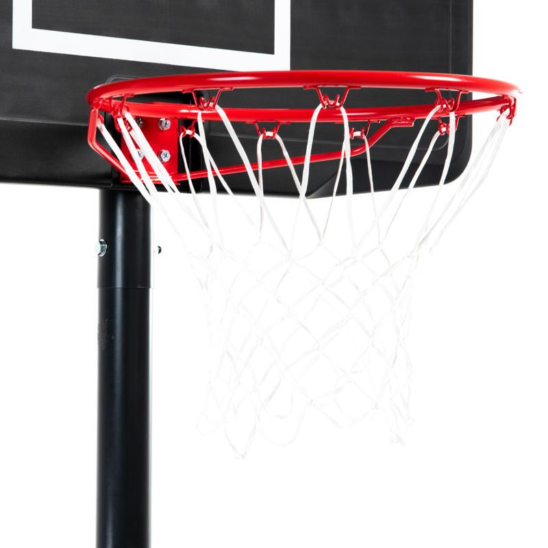 B100 Kids'/Adult Basketball Basket - Black Adjusts from 2.2m to 3.05m.