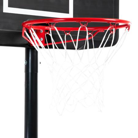 Panier de Basket B100 noir - Enfant et Adulte. Réglablede 2,20m à 3,05m.