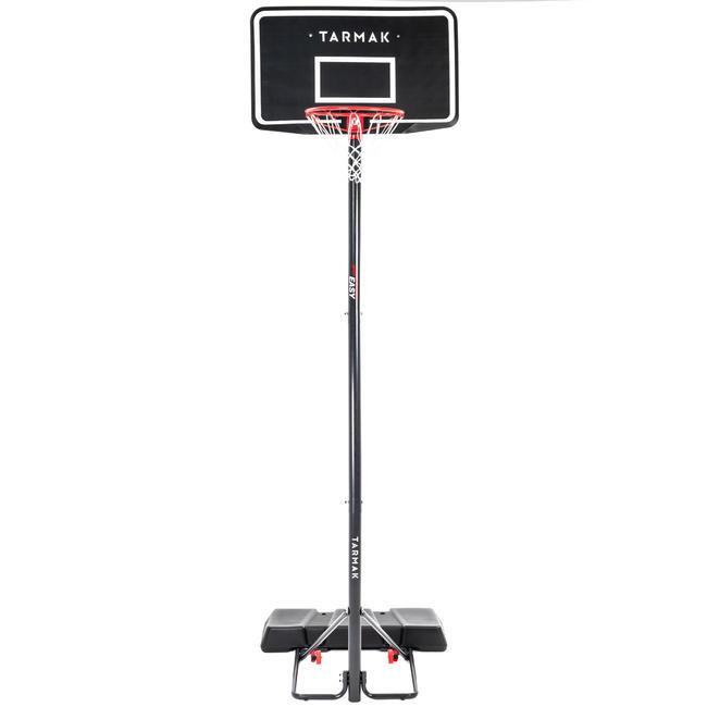 B100 Easy Kids'/Adult Basketball Basket2.4m to 3.05m tool-free adjustment.