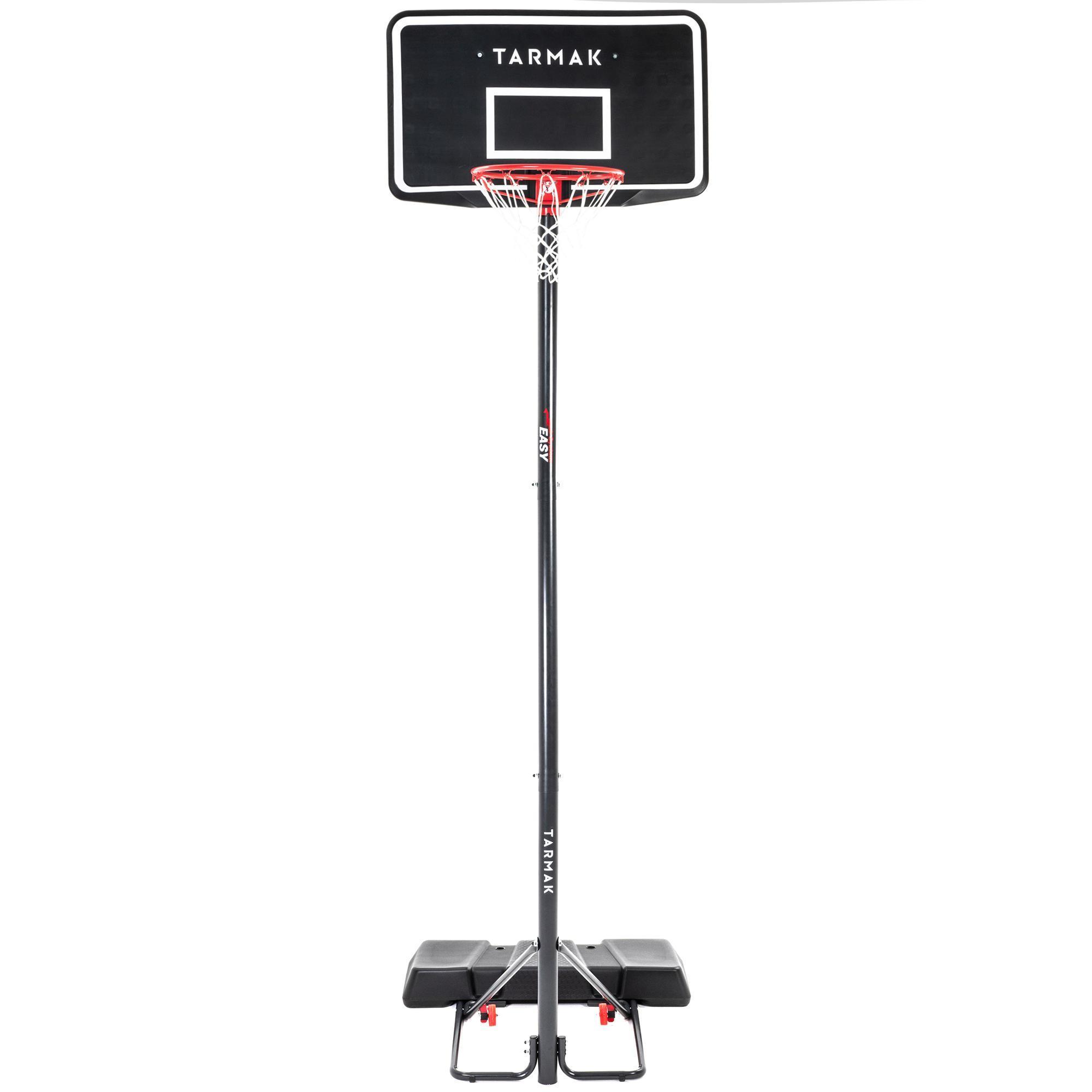 Basketball B100 Easy Kids  Adult Basketball Basket 2.2m to 3.05m tool-free  adjustment. - Decathlon 25449c9d17d57
