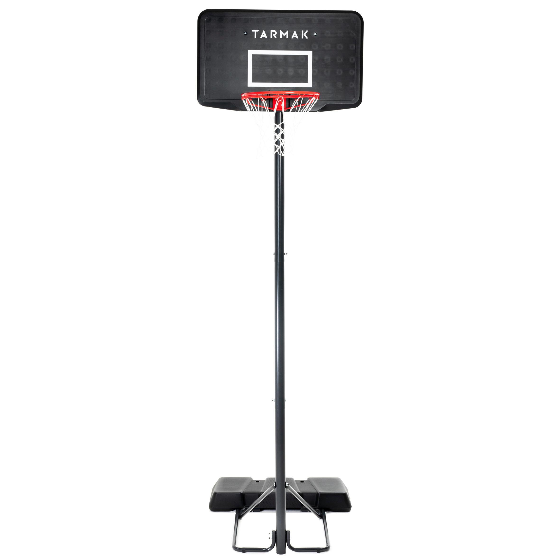Canasta de Baloncesto B100 negro para niño y adulto. Se ajusta de 2,20 a 3,05 m.