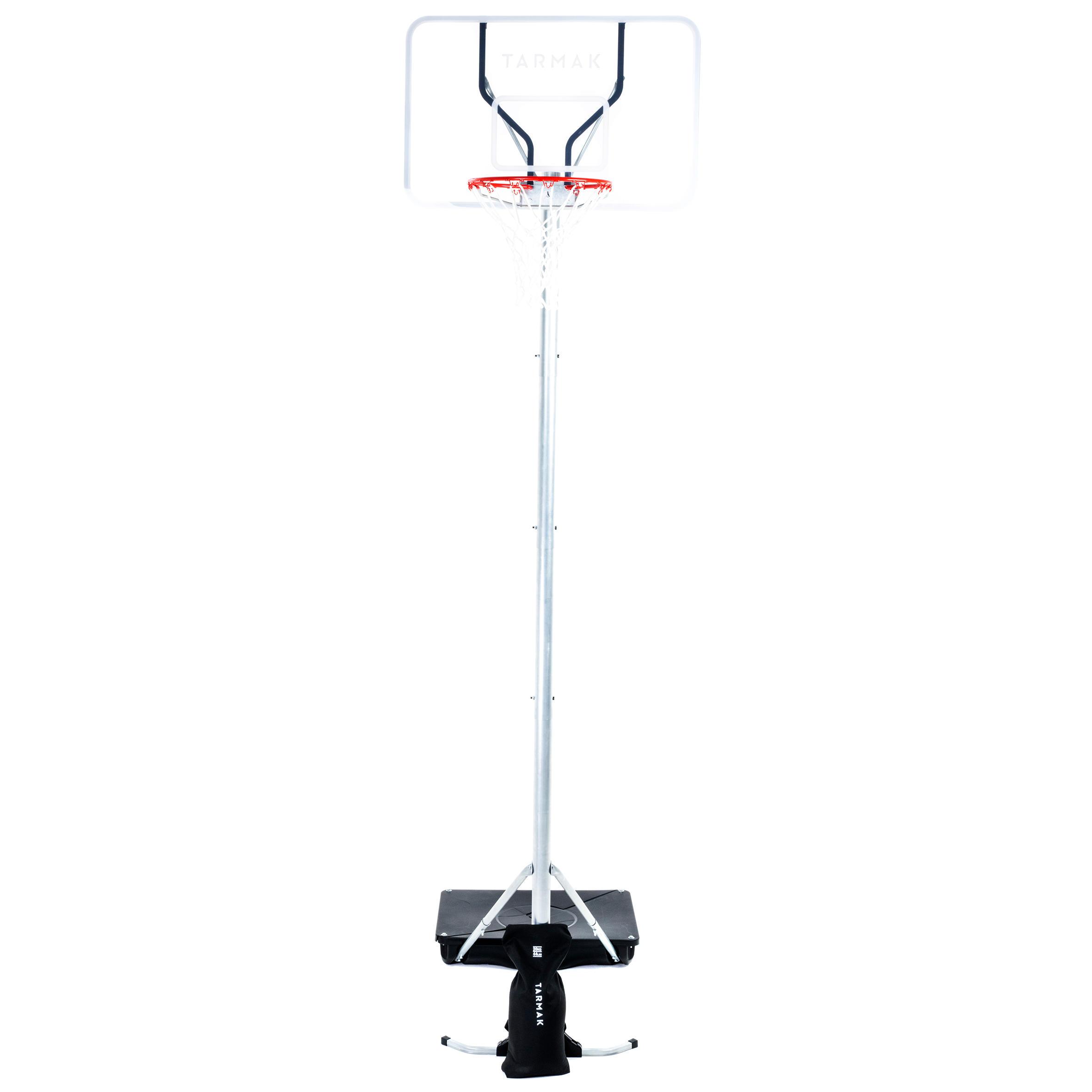 Damen,Herren,Jungen,Kinder,Kinder Basketballkorb-Anlage B100 Pro Kinder Erwachsene 2 60 m bis 3 05 m. Plexi-Board. | 03583788101482