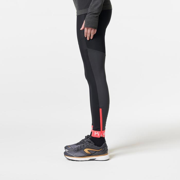 Mallas Térmicas Leggings Deportivos Running Kalenji Kiprun Warm Mujer Negro/Rosa