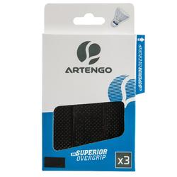 SURGRIP DE BADMINTON - SUPERIOR OVERGRIP x 3
