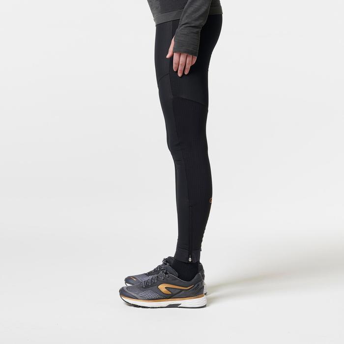 Mallas Térmicas Leggings Deportivos Running Kalenji Kiprun Warm Mujer Negro