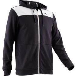 Veste Adidas 500 capuche Gym Stretching noir homme