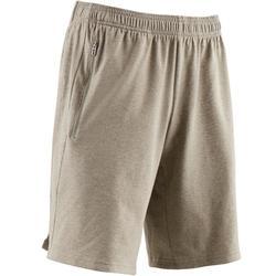 Short Douario Adidas 500 regular Gym Stretching homme kaki