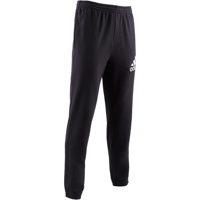Jogginghose 500 Slim Gym Stretching Herren schwarz