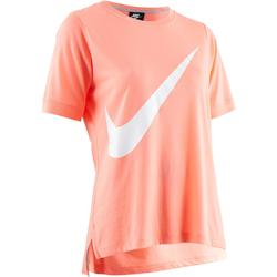 T-Shirt 100 Gym Stretching Damen rosa