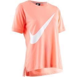 Dames T-shirt Nike 100 voor gym en stretching roze