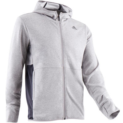 best online amazon buying new Veste Adidas 560 capuche Gym Stretching homme gris