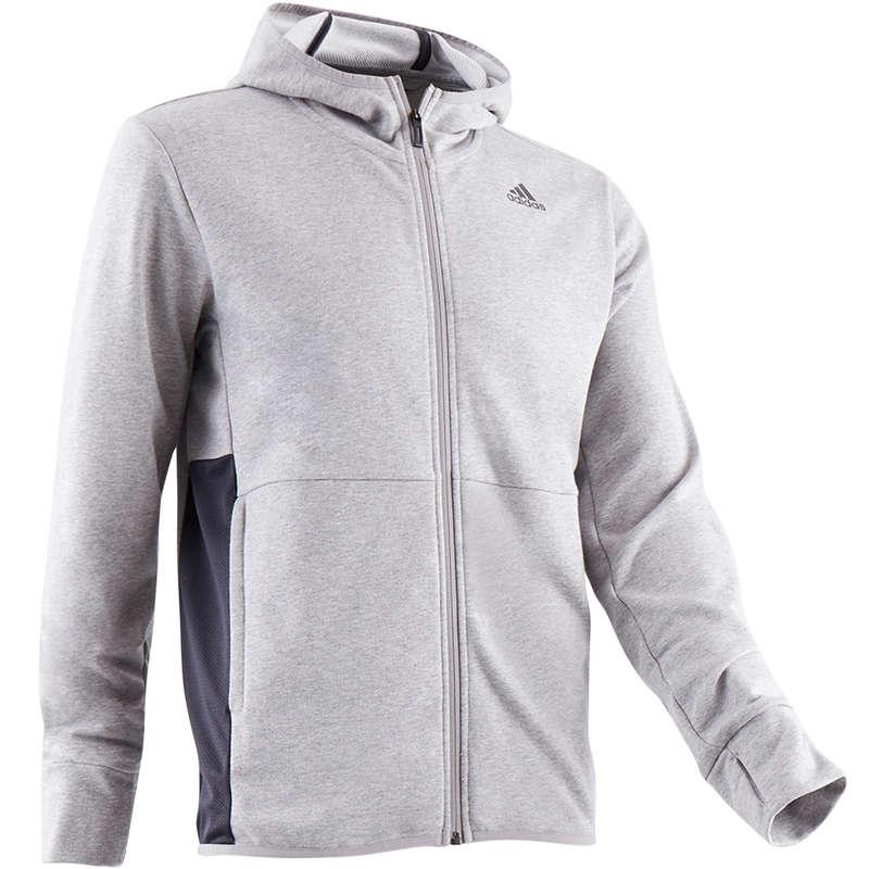 MAN GYM, PILATES COLD WEATHER APPAREL Clothing - 560 Gym Hoody - Grey ADIDAS - Tops