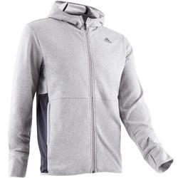 Chaqueta Adidas 560 capucha Gimnasia Stretching hombre gris