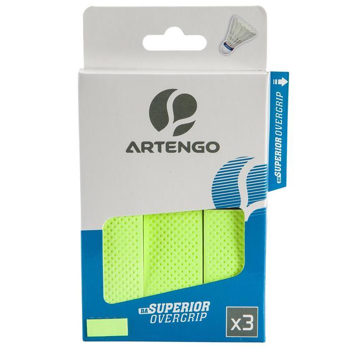 Badminton Griffband Overgrip Superior 3 Stk. grün
