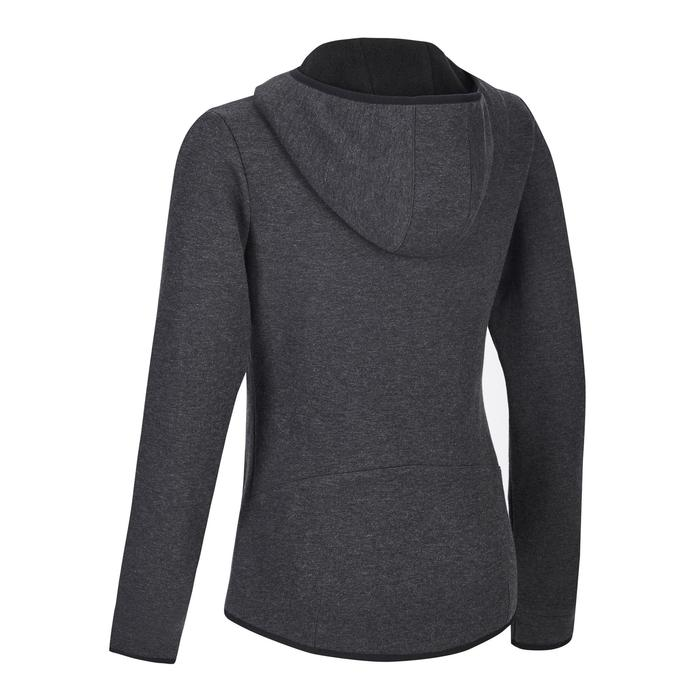 900 Women's Hooded Gym Stretching Jacket - Dark Mottled Grey