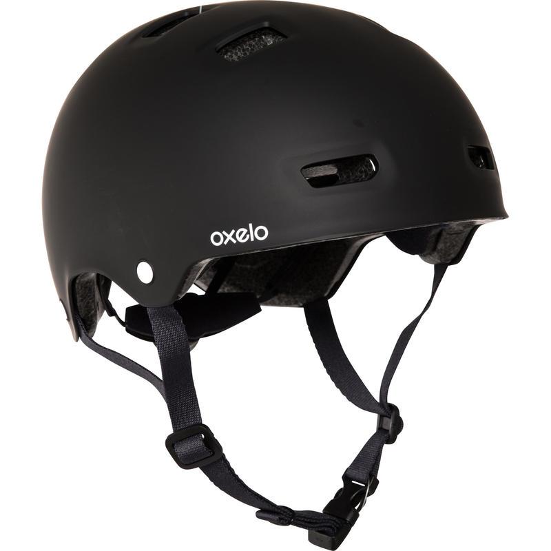 Casco para patín, skateboard y scooter MF500 negro azul