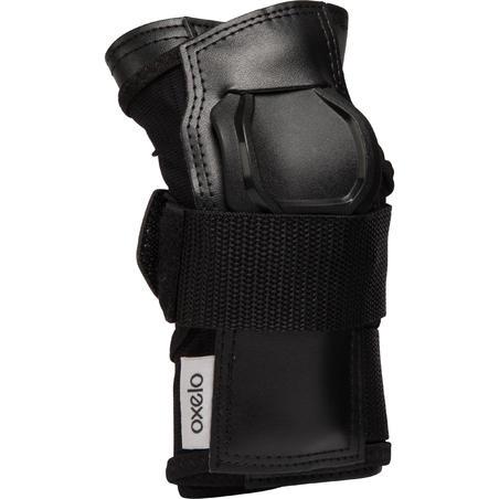 Pieaugušo plaukstu aizsargi skrituļslidošanai Fit500, melni/pelēki