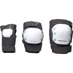 Ensemble 3 protections patin à roulettes adulte FIT500 gris peppermint