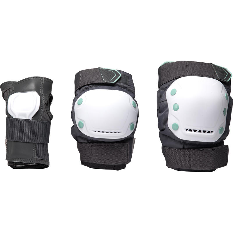 Protecciones Patines/Scooter/Skateboard Oxelo FIT500 Adulto Set3 Blanco
