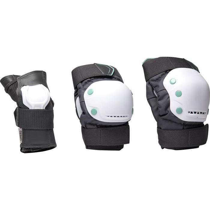 Skatebeschermers voor volwassenen set van 3 FIT500 grijs/mint