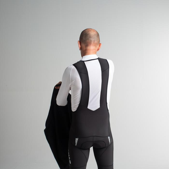 500 Long Winter Road Sport Cycling Shorts - Black