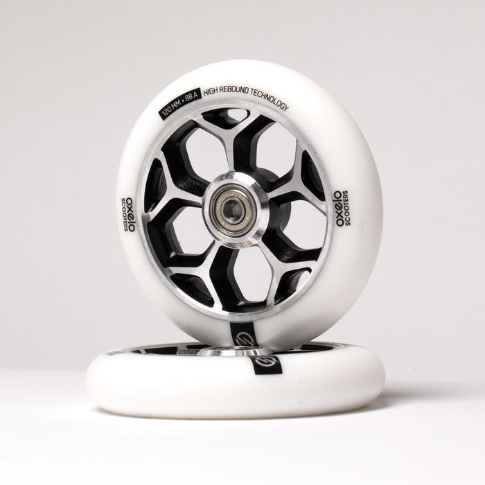 Wiel voor freestylestep 120 mm wit / chroom