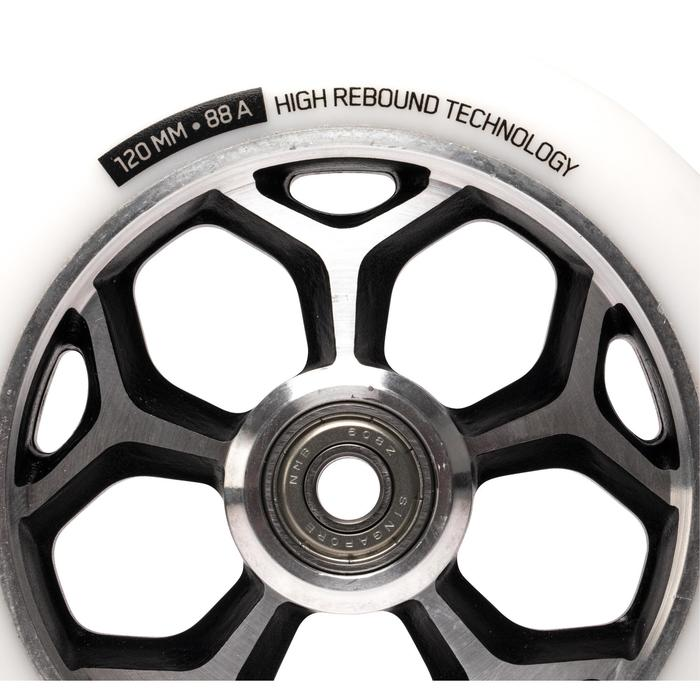 ROUE TROTTINETTE FREESTYLE 120MM BLANCHE /CHROME