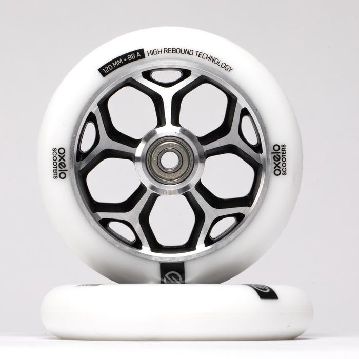 Stunt-Scooter-Rolle 120mm weiss/Chrom