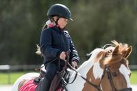 Blouson chaud équitation enfant 500 Chaud marine/rose