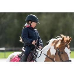 Cazadora Equitación Fouganza 500 Warm Niño Azul Marino y Rosa Cálida