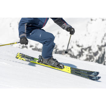 MEN'S ON-PISTE SKIS WITH BOOST 500 BINDINGS YELLOW AND BLACK