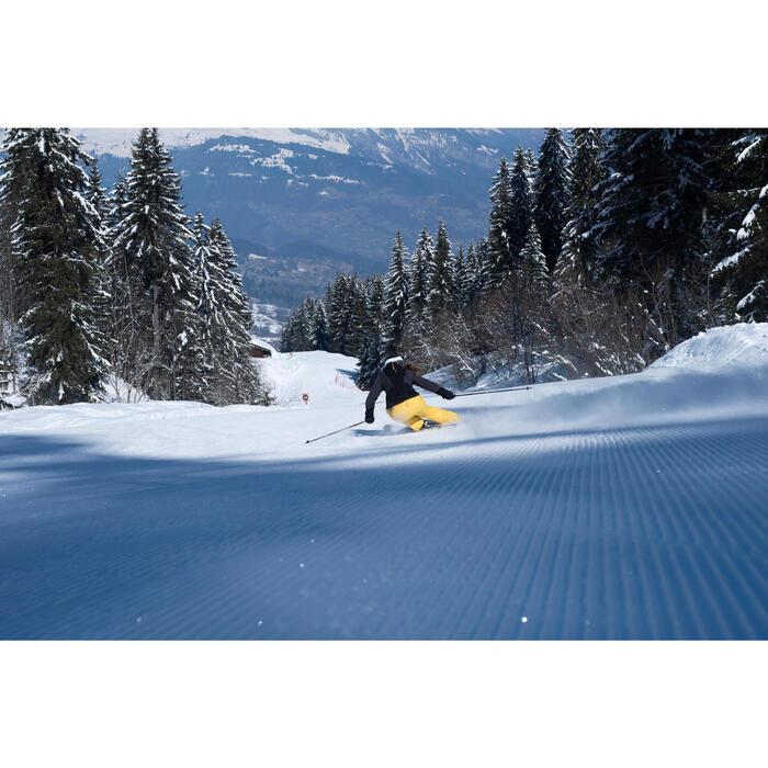 Dames ski-jas voor pisteskiën SKI-P JKT 900 zwart en grijs