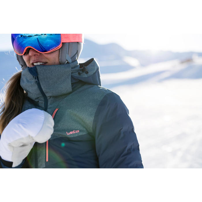 WOMEN'S DOWNHILL SKI JACKET 900 - BLUE