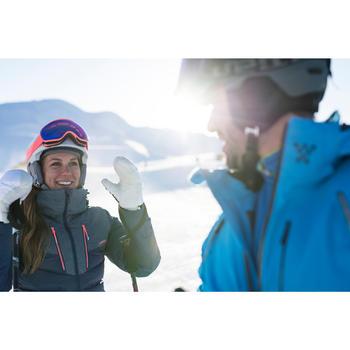 女款下坡滑雪外套900 - 藍色