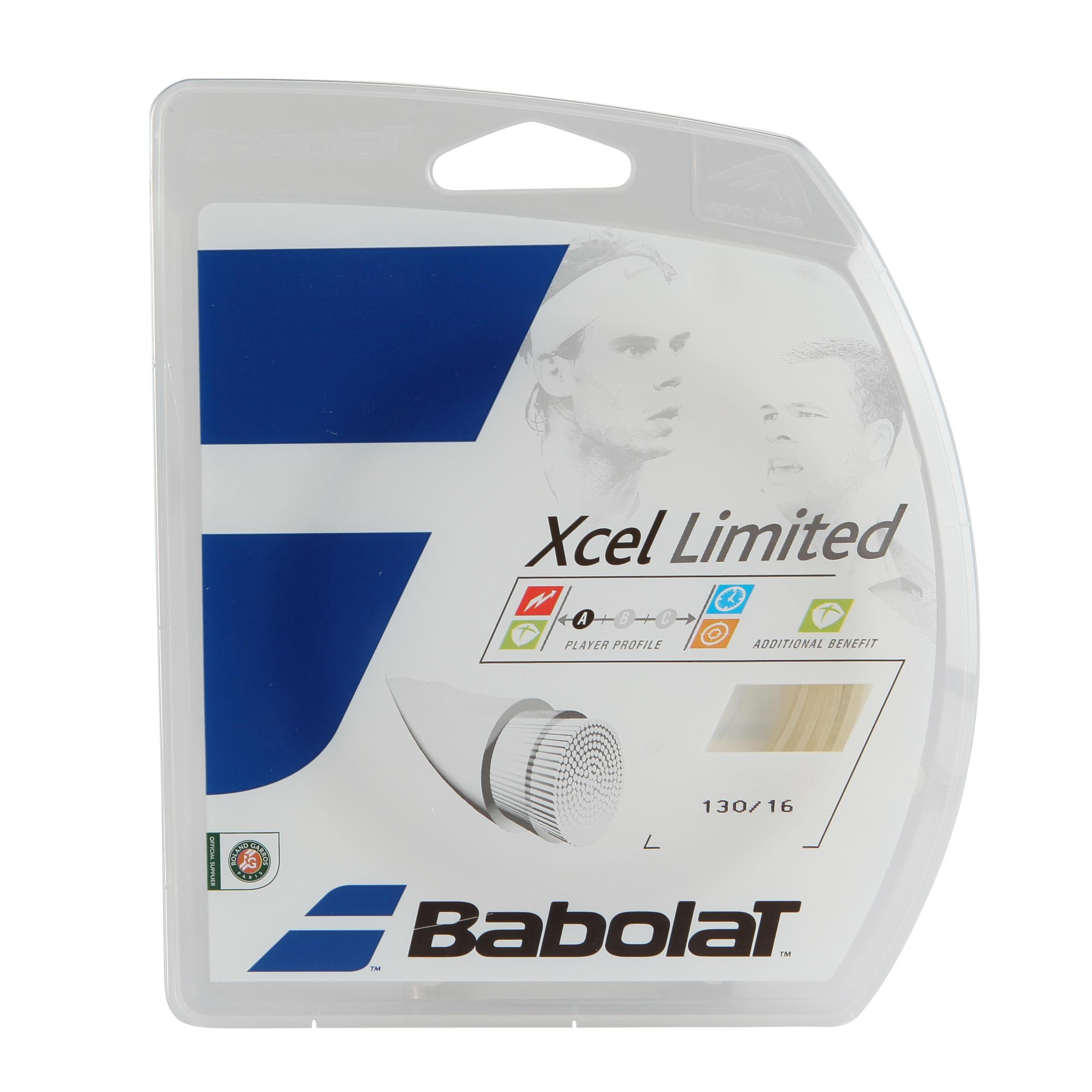 Babolat Tennisbesnaring Babolat Xcel Limited 1,30 mm multifilament natuurlijk