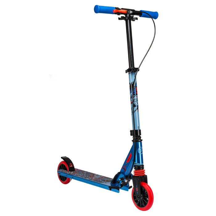 Patinete Scooter Oxelo MID 5 Niños Freno en el Manillar Azul/Rojo/Negro