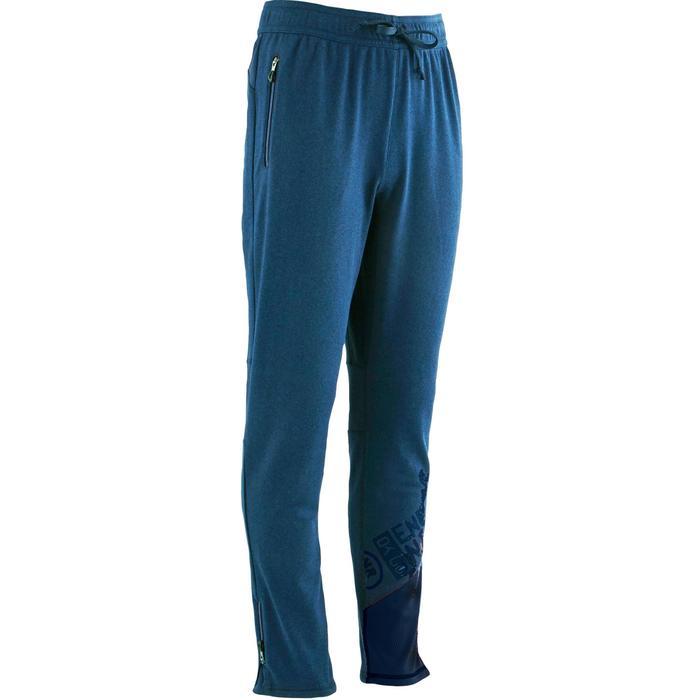 Pantalon slim S900 Gym garçon bleu marine